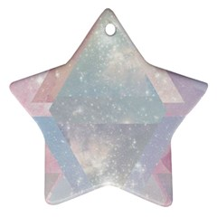 Pastel Crystal Star Ornament (two Sides) by Brittlevirginclothing