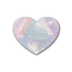 Pastel Crystal Rubber Coaster (heart)  by Brittlevirginclothing