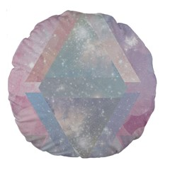 Pastel Crystal Large 18  Premium Round Cushions by Brittlevirginclothing