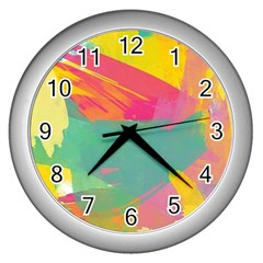 Paint Brush Wall Clocks (silver)  by Brittlevirginclothing