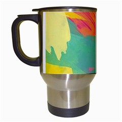 Paint Brush Travel Mugs (white) by Brittlevirginclothing