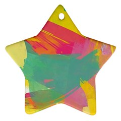 Paint Brush Star Ornament (two Sides) by Brittlevirginclothing