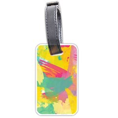 Paint Brush Luggage Tags (one Side)  by Brittlevirginclothing