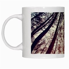 Up View Forest White Mugs by Brittlevirginclothing