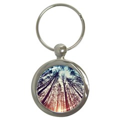Up View Forest Key Chains (round)  by Brittlevirginclothing