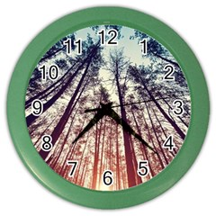 Up View Forest Color Wall Clocks by Brittlevirginclothing