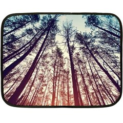 Up View Forest Fleece Blanket (mini) by Brittlevirginclothing