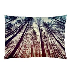 Up View Forest Pillow Case (two Sides) by Brittlevirginclothing