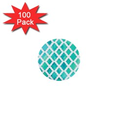 Blue Mosaic 1  Mini Buttons (100 Pack)  by Brittlevirginclothing