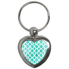 Blue Mosaic Key Chains (heart)  by Brittlevirginclothing