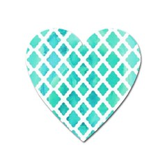 Blue Mosaic Heart Magnet by Brittlevirginclothing