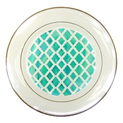 Blue Mosaic Porcelain Plates by Brittlevirginclothing