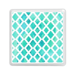 Blue Mosaic Memory Card Reader (square)  by Brittlevirginclothing