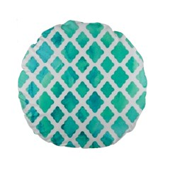 Blue Mosaic Standard 15  Premium Round Cushions by Brittlevirginclothing