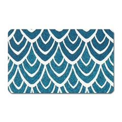 Blue Fish Scale Magnet (rectangular) by Brittlevirginclothing