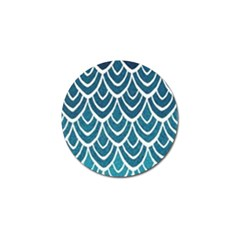 Blue Fish Scale Golf Ball Marker (10 Pack) by Brittlevirginclothing