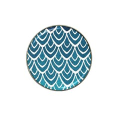Blue Fish Scale Hat Clip Ball Marker by Brittlevirginclothing