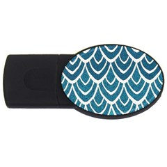 Blue Fish Scale Usb Flash Drive Oval (4 Gb) by Brittlevirginclothing