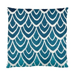 Blue Fish Scale Standard Cushion Case (two Sides) by Brittlevirginclothing