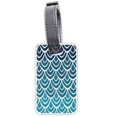 Blue Fish Scale Luggage Tags (two Sides) by Brittlevirginclothing