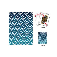 Blue Fish Scale Playing Cards (mini)  by Brittlevirginclothing