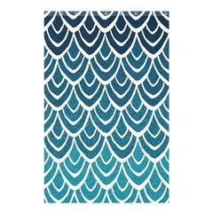 Blue Fish Scale Shower Curtain 48  X 72  (small)  by Brittlevirginclothing