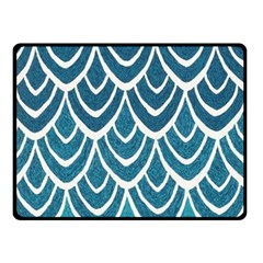 Blue Fish Scale Double Sided Fleece Blanket (small)  by Brittlevirginclothing