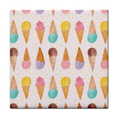 Cute Ice Cream Tile Coasters by Brittlevirginclothing