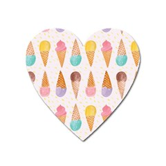 Cute Ice Cream Heart Magnet by Brittlevirginclothing