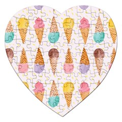 Cute Ice Cream Jigsaw Puzzle (heart) by Brittlevirginclothing
