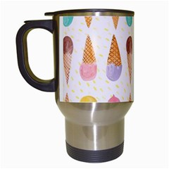 Cute Ice Cream Travel Mugs (white) by Brittlevirginclothing