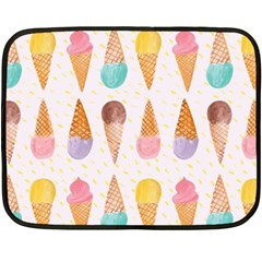Cute Ice Cream Fleece Blanket (mini) by Brittlevirginclothing