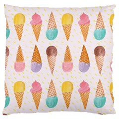 Cute Ice Cream Large Cushion Case (one Side) by Brittlevirginclothing