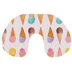 Cute Ice Cream Travel Neck Pillows by Brittlevirginclothing