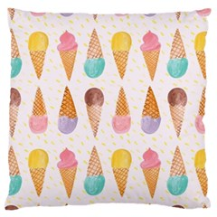 Cute Ice Cream Large Flano Cushion Case (two Sides) by Brittlevirginclothing