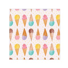 Cute Ice Cream Small Satin Scarf (square)  by Brittlevirginclothing
