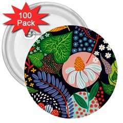 Japanese Inspired 3  Buttons (100 Pack)  by Brittlevirginclothing