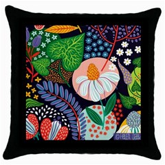 Japanese Inspired Throw Pillow Case (black) by Brittlevirginclothing
