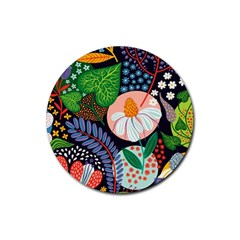 Japanese Inspired Rubber Round Coaster (4 Pack)  by Brittlevirginclothing