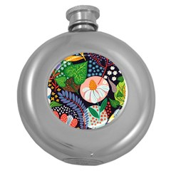 Japanese Inspired Round Hip Flask (5 Oz) by Brittlevirginclothing