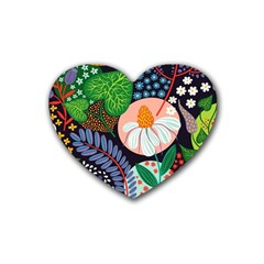 Japanese Inspired Rubber Coaster (heart)  by Brittlevirginclothing