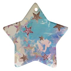 Pastel Stars Ornament (star) by Brittlevirginclothing