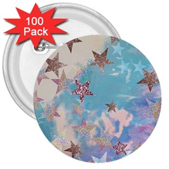 Pastel Stars 3  Buttons (100 Pack)  by Brittlevirginclothing