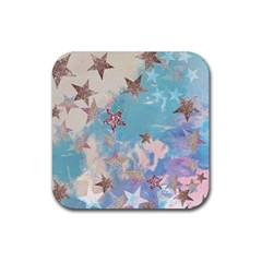 Pastel Stars Rubber Coaster (square)  by Brittlevirginclothing