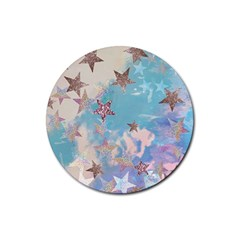Pastel Stars Rubber Coaster (round)  by Brittlevirginclothing