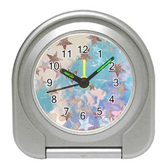 Pastel Stars Travel Alarm Clocks by Brittlevirginclothing