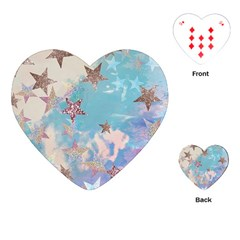 Pastel Stars Playing Cards (heart)  by Brittlevirginclothing