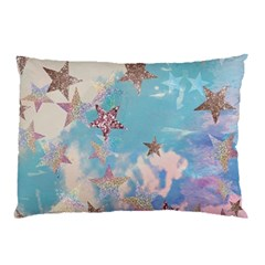 Pastel Stars Pillow Case (two Sides) by Brittlevirginclothing