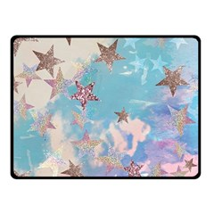 Pastel Stars Double Sided Fleece Blanket (small)  by Brittlevirginclothing