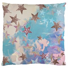 Pastel Stars Large Flano Cushion Case (one Side) by Brittlevirginclothing